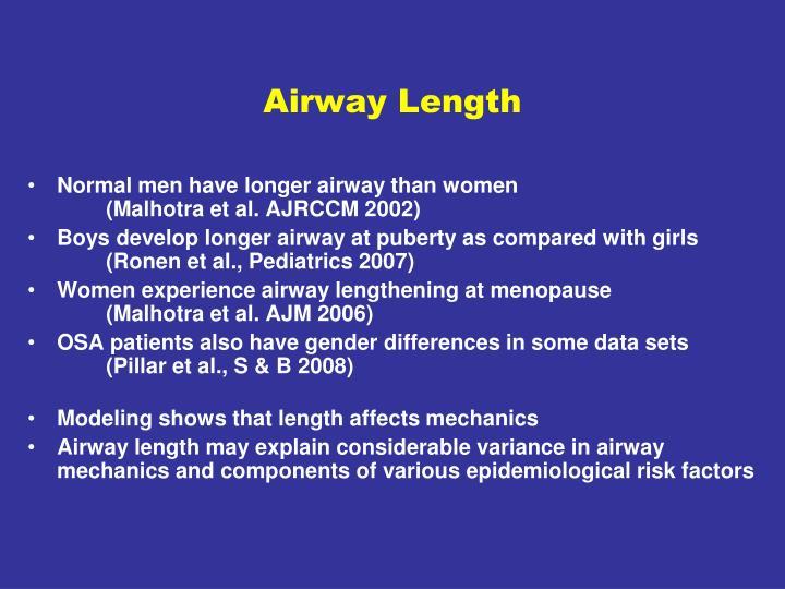 Airway Length