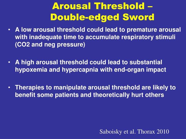 Arousal Threshold – Double-edged Sword