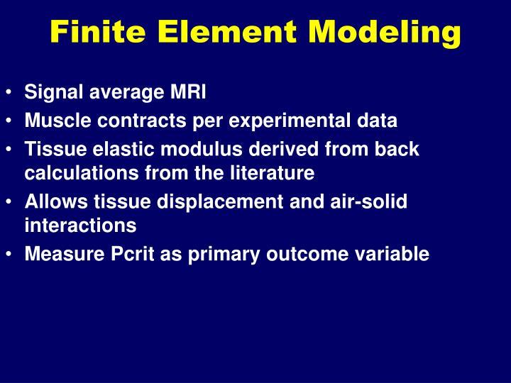 Finite Element Modeling