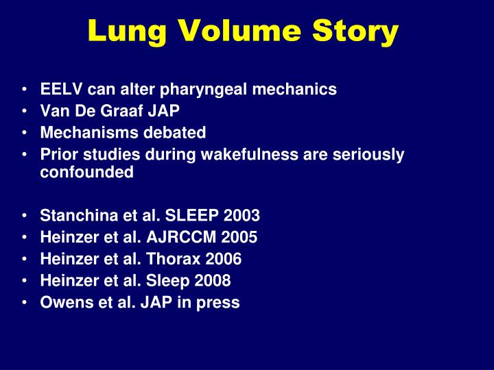 Lung Volume Story