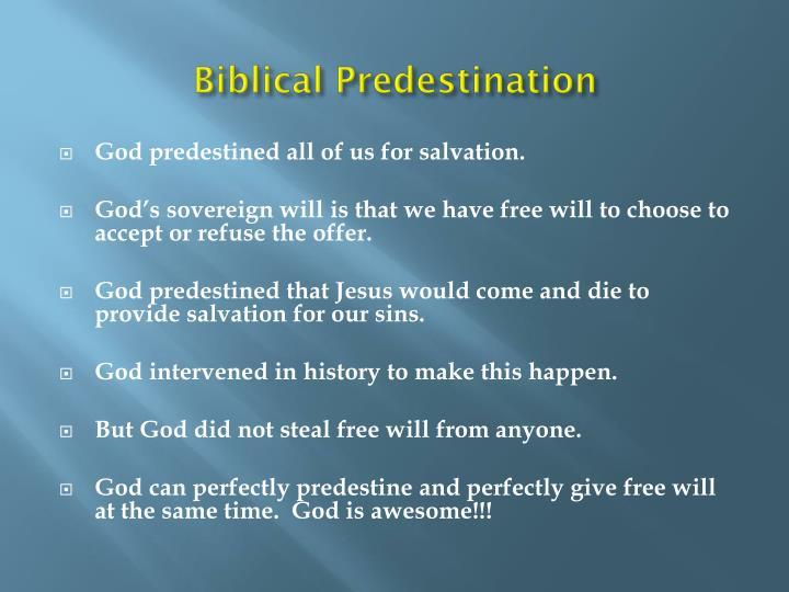 Biblical Predestination