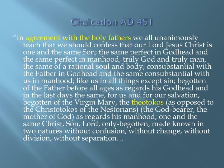 Chalcedon AD 451