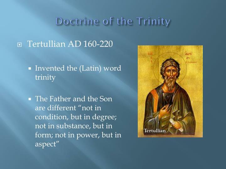 Doctrine of the Trinity