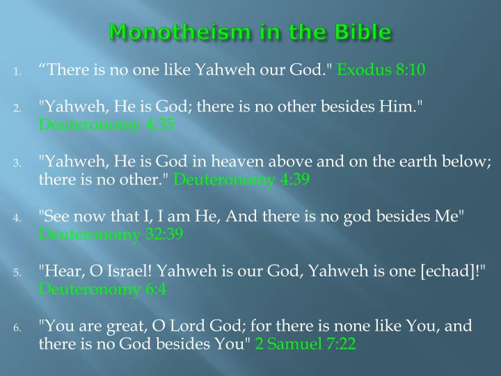Monotheism in the Bible