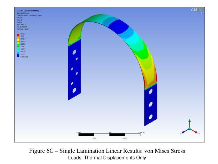 Figure 6C – Single Lamination Linear Results: von Mises Stress