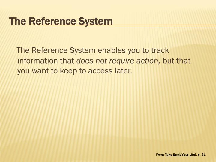 The Reference System