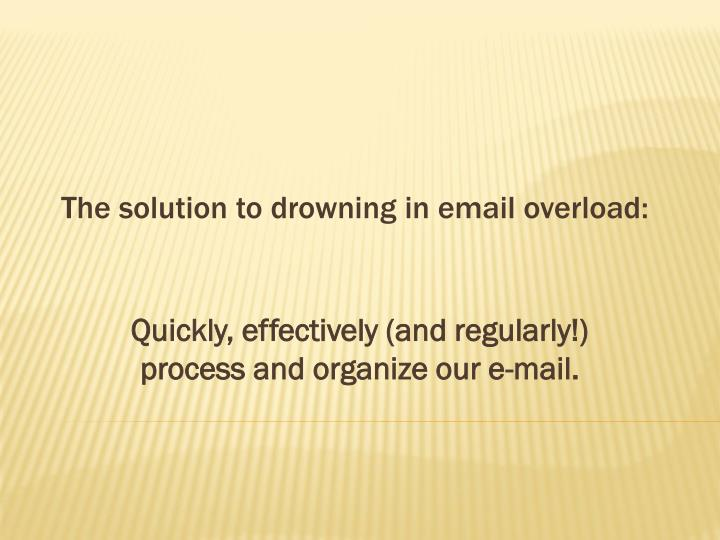 The solution to drowning in email overload: