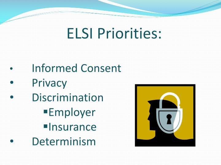 ELSI Priorities: