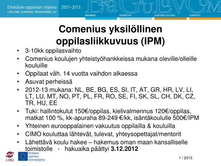 Comenius yksilöllinen