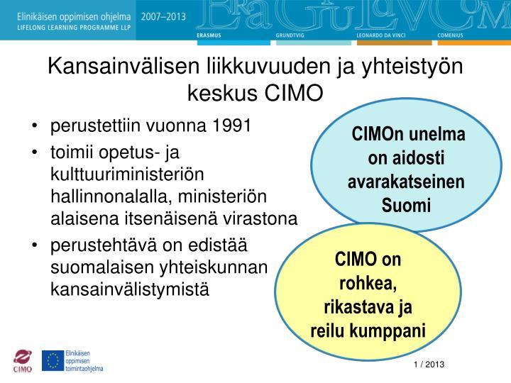 Kansainvälisen liikkuvuuden ja yhteistyön keskus CIMO