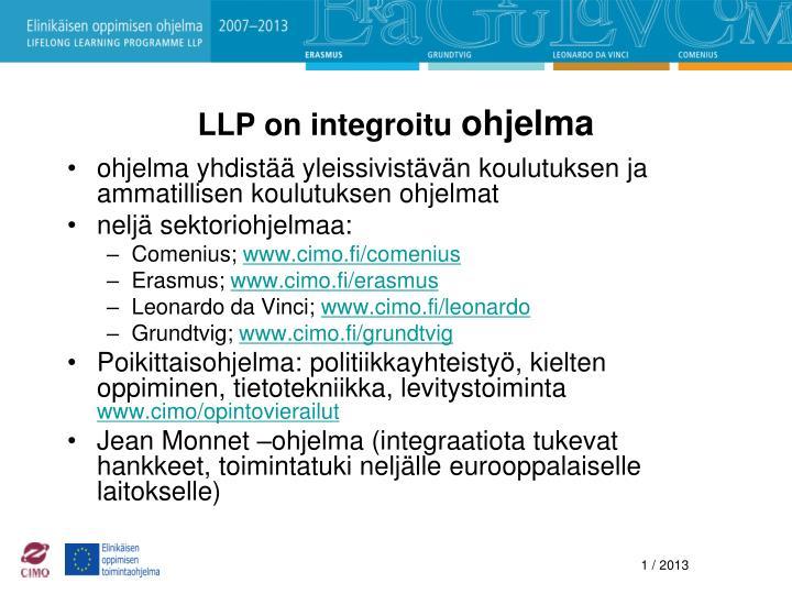 LLP on integroitu