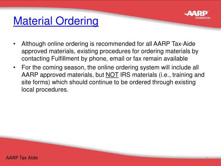 Material Ordering