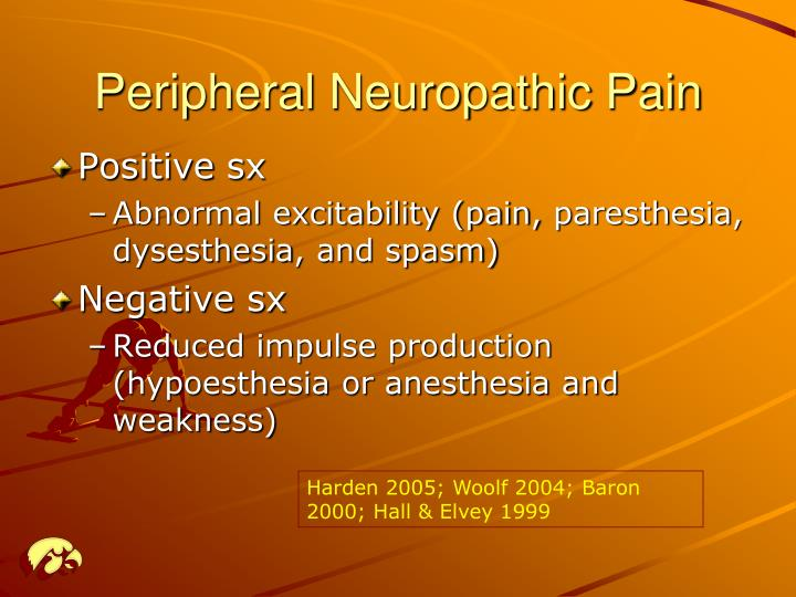 Peripheral neuropathic pain