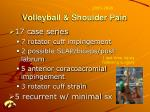volleyball shoulder pain