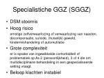 specialistiche ggz sggz