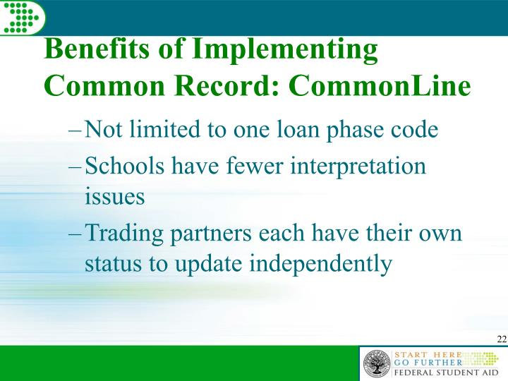 Benefits of Implementing Common Record: CommonLine