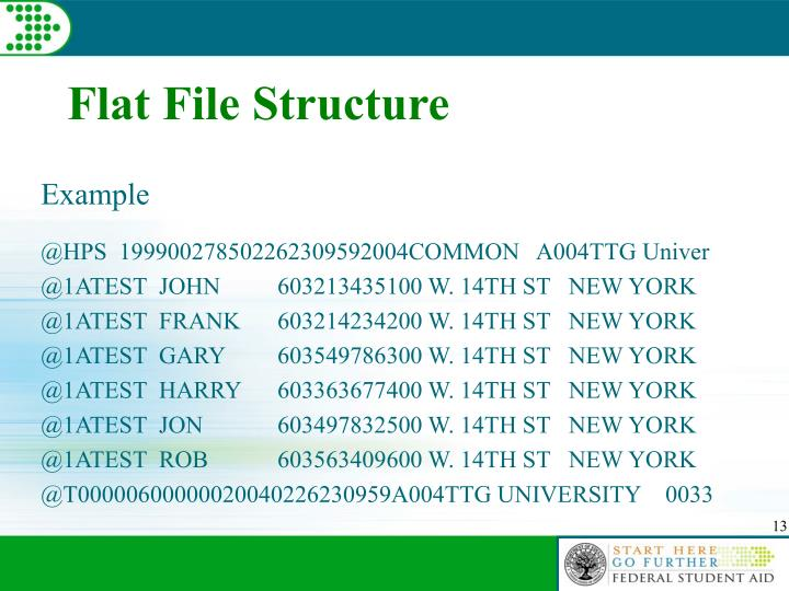 Flat File Structure