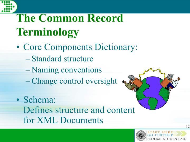 The Common Record Terminology
