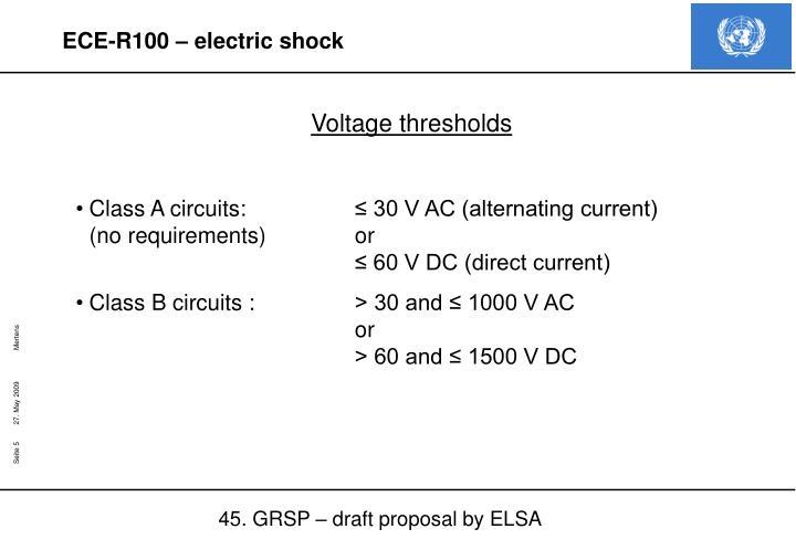 Voltage thresholds