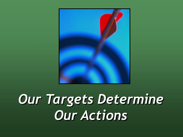 Our Targets Determine Our Actions