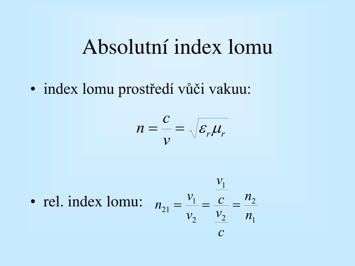 Absolutní index lomu