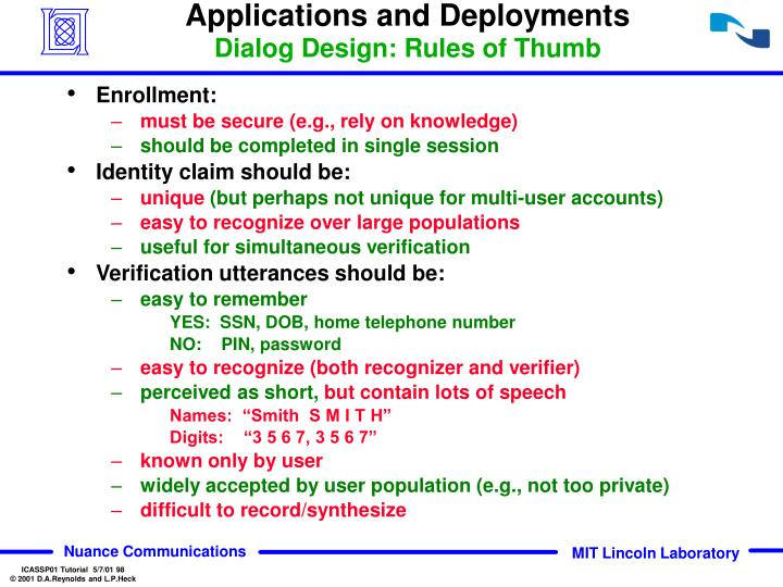 Applications and Deployments