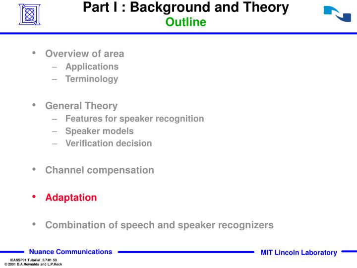 Part I : Background and Theory