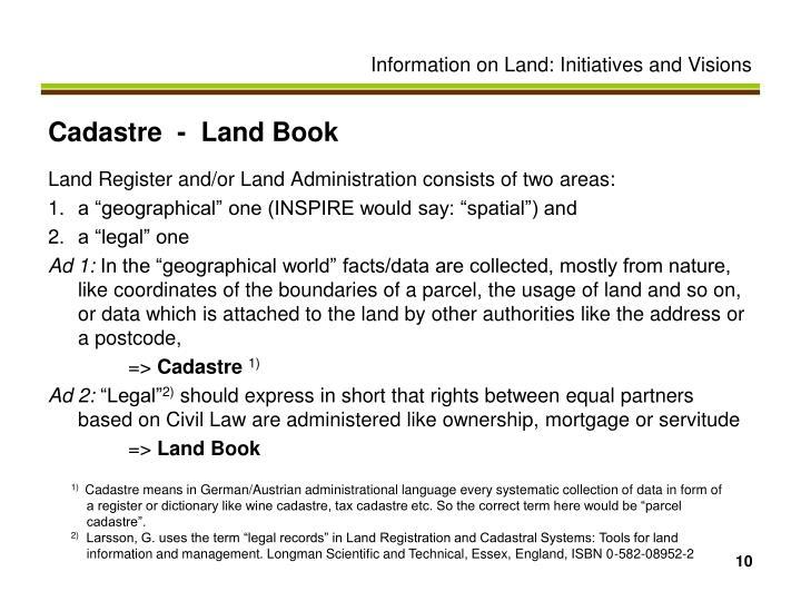 Cadastre  -  Land Book