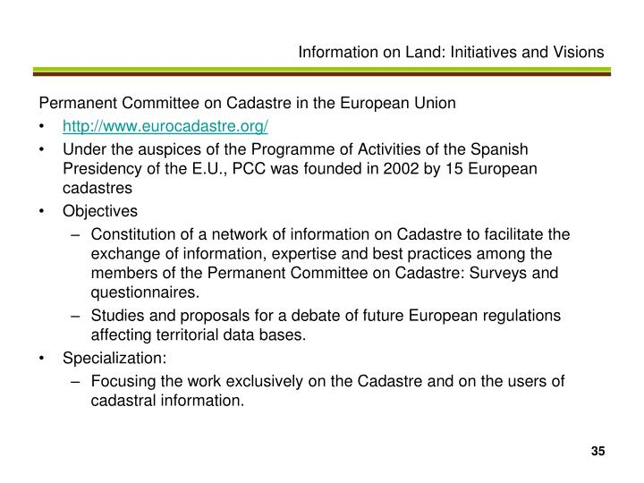 Permanent Committee on Cadastre in the European Union