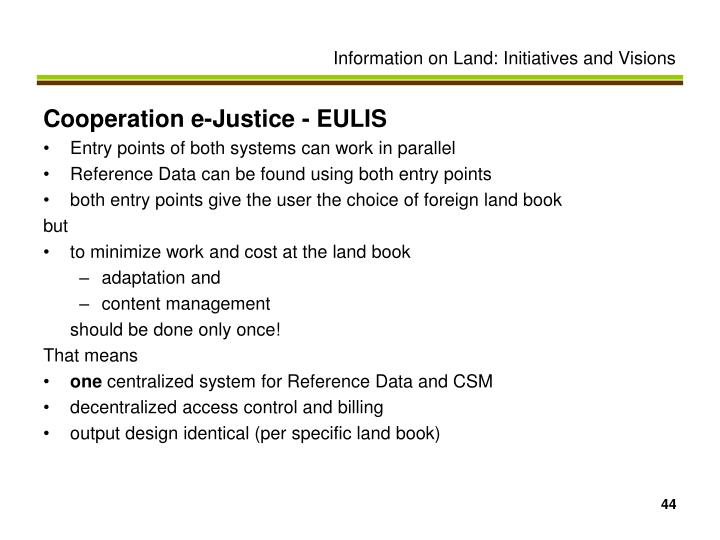 Cooperation e-Justice - EULIS