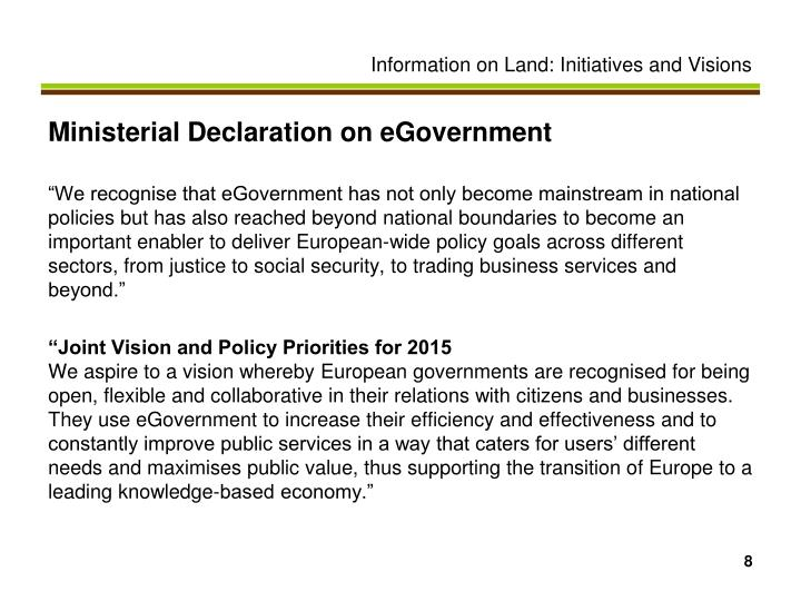 Ministerial Declaration on eGovernment