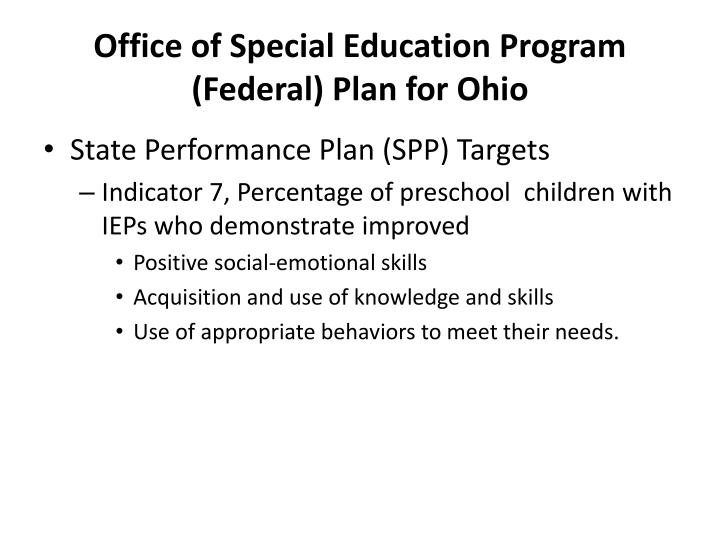 Office of Special Education Program (Federal