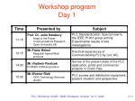 workshop program day 1