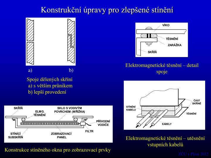 Konstrukční úpravy pro zlepšené stínění