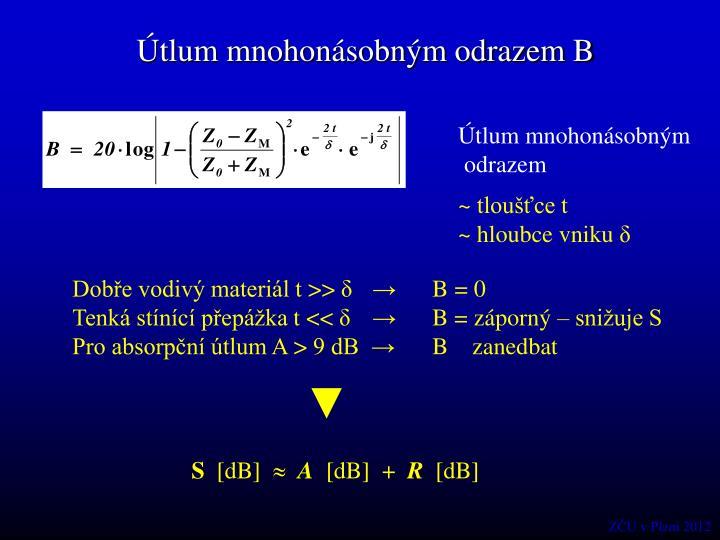 Útlum mnohonásobným odrazem B