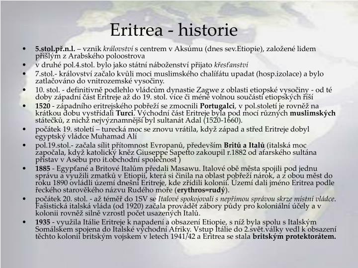 Eritrea - historie