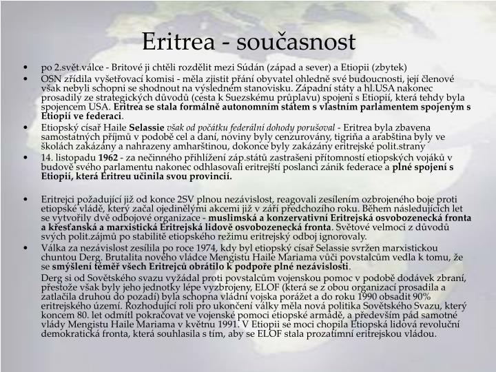 Eritrea - současnost
