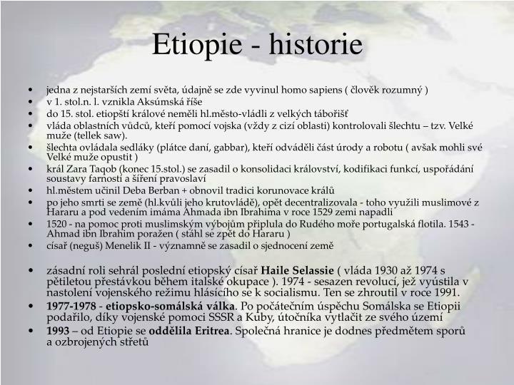 Etiopie - historie