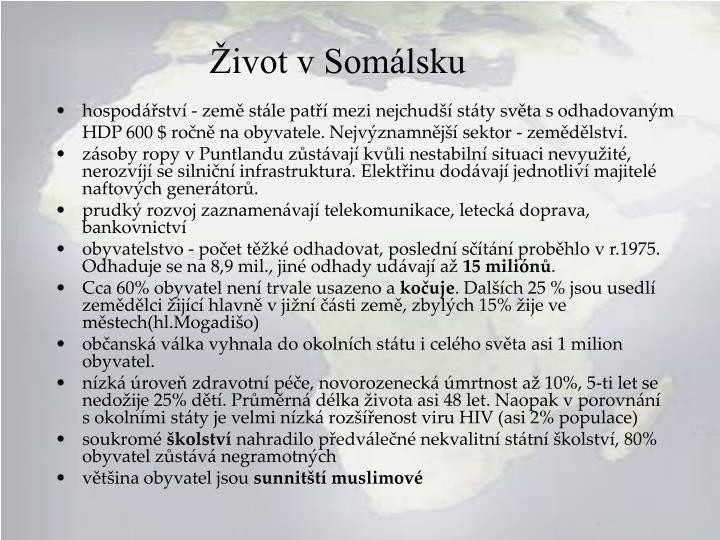 Život v Somálsku