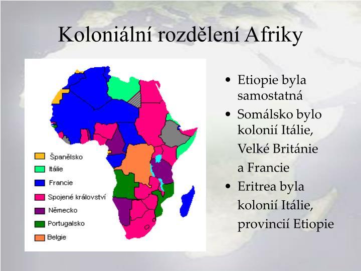 Koloniální rozdělení Afriky