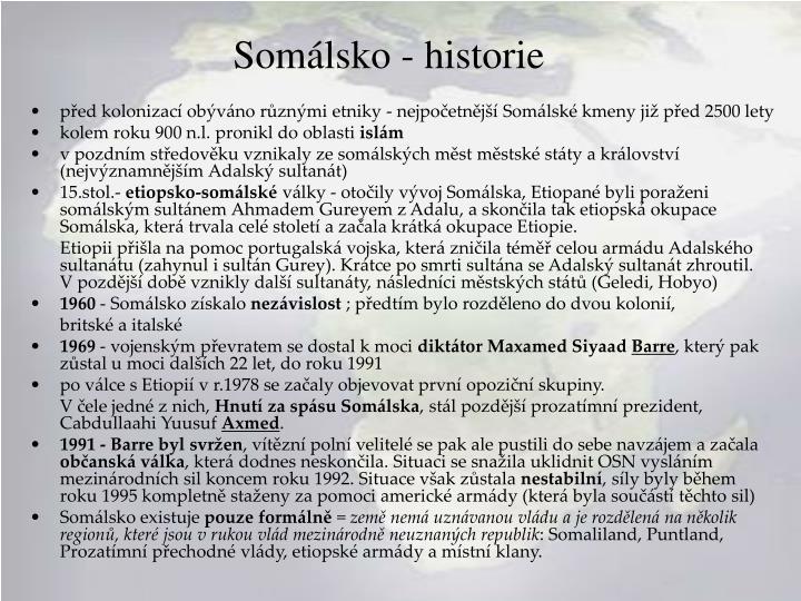 Somálsko - historie