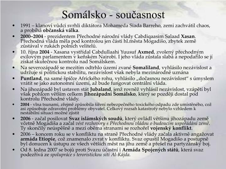 Somálsko - současnost