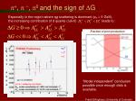 p p p 0 and the sign of d g