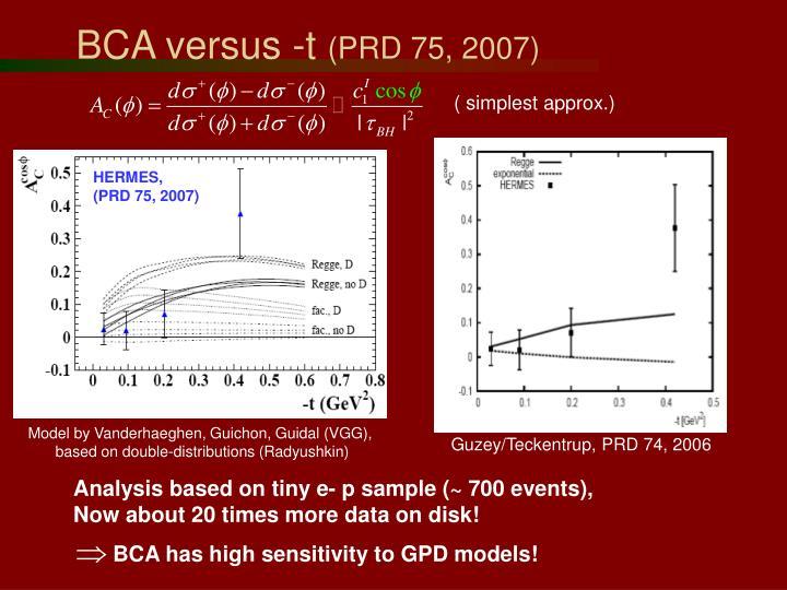 BCA versus -t