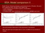 bsa model comparison ii
