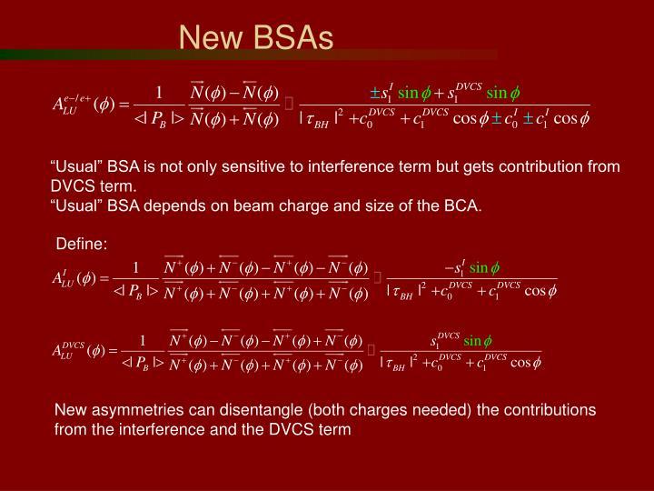 New BSAs