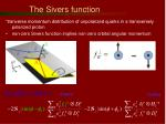 the sivers function