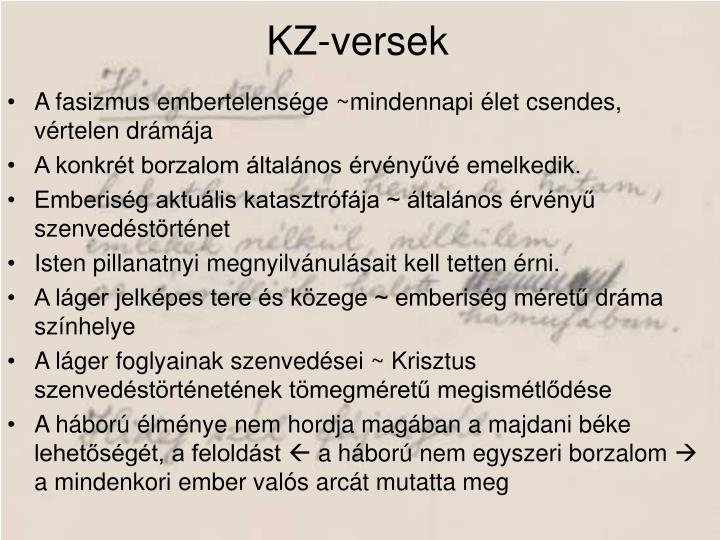 KZ-versek