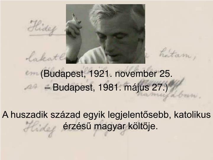(Budapest, 1921. november 25.