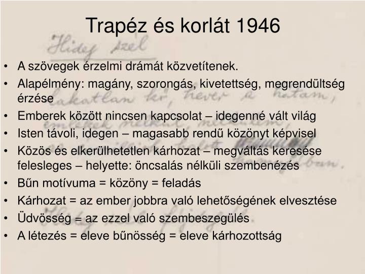 Trapéz és korlát 1946